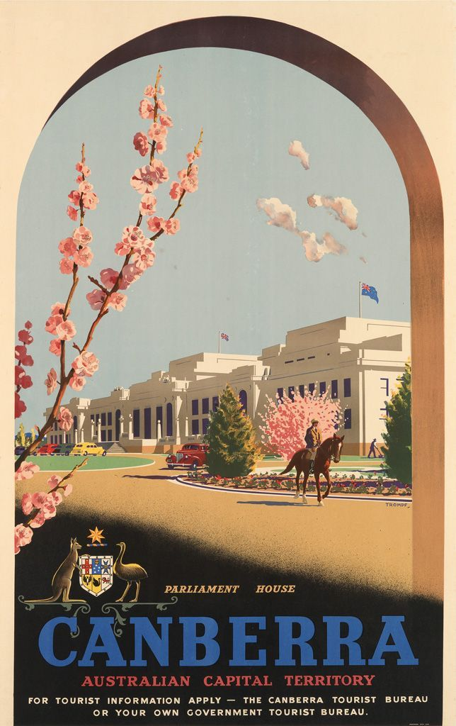 aa0ed46cd6 Canberra, Australia | Retro Posters | Tourism poster, Vintage ...