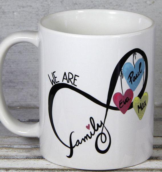 Becher & Tassen - Familie Tasse Geschenkidee für die Liebsten - ein Designerstück von Tassen-Geschenke-by-MySweetheart bei DaWanda