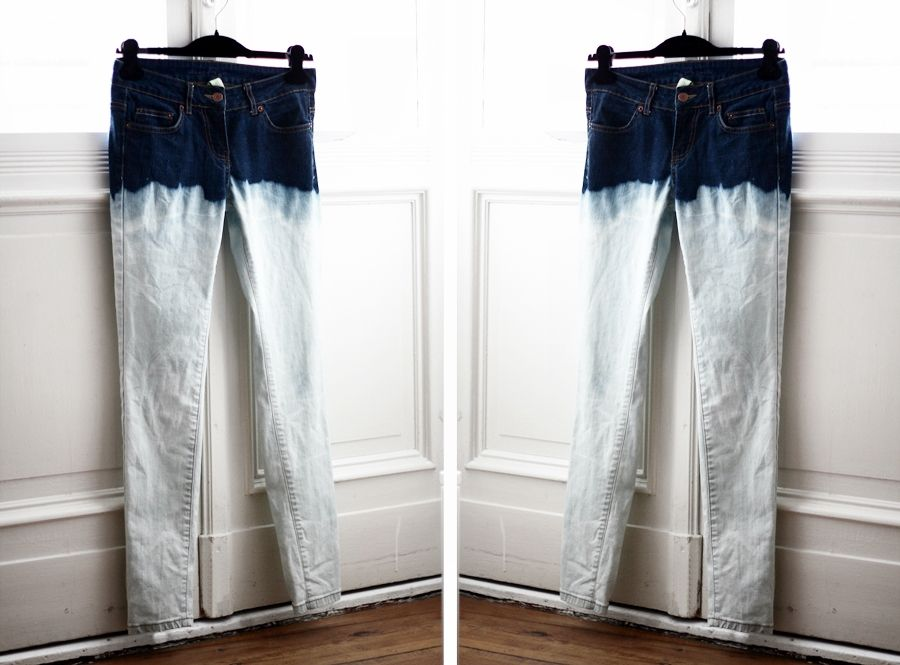 Diy ombre jeansid like more subtle shading but cool idea