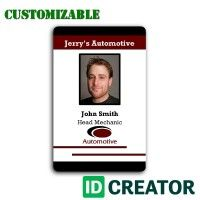 Employee Badges From Idcreator Com Call 1 855 Make Ids Id Card Template Card Template Cards
