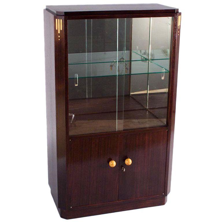 1930s French Art Deco Rosewood Bar Or Vitrine Cabinet 1stdibs Com Art Deco Bar Vitrine Schrank
