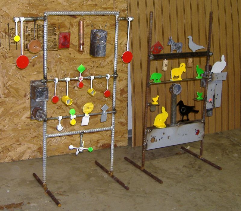 Homemade shooting target ideas steel field targets for Indoor shooting range design uk
