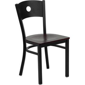 Flash Furniture Hercules Series Circle Back Side Chair