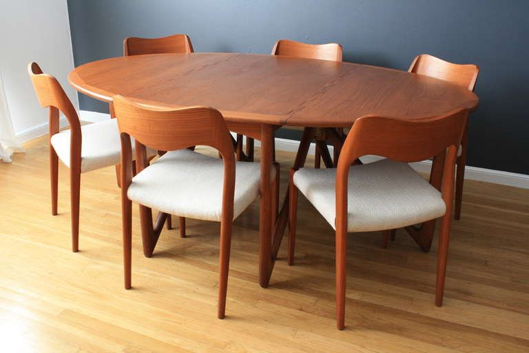 Danish Modern Dining Table By Kurt Ostervig 1stdibs Com Modern Dining Table Danish Dining Table Oval Table Dining