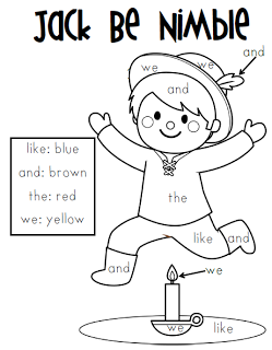 Nursery Rhymes And Sight Words