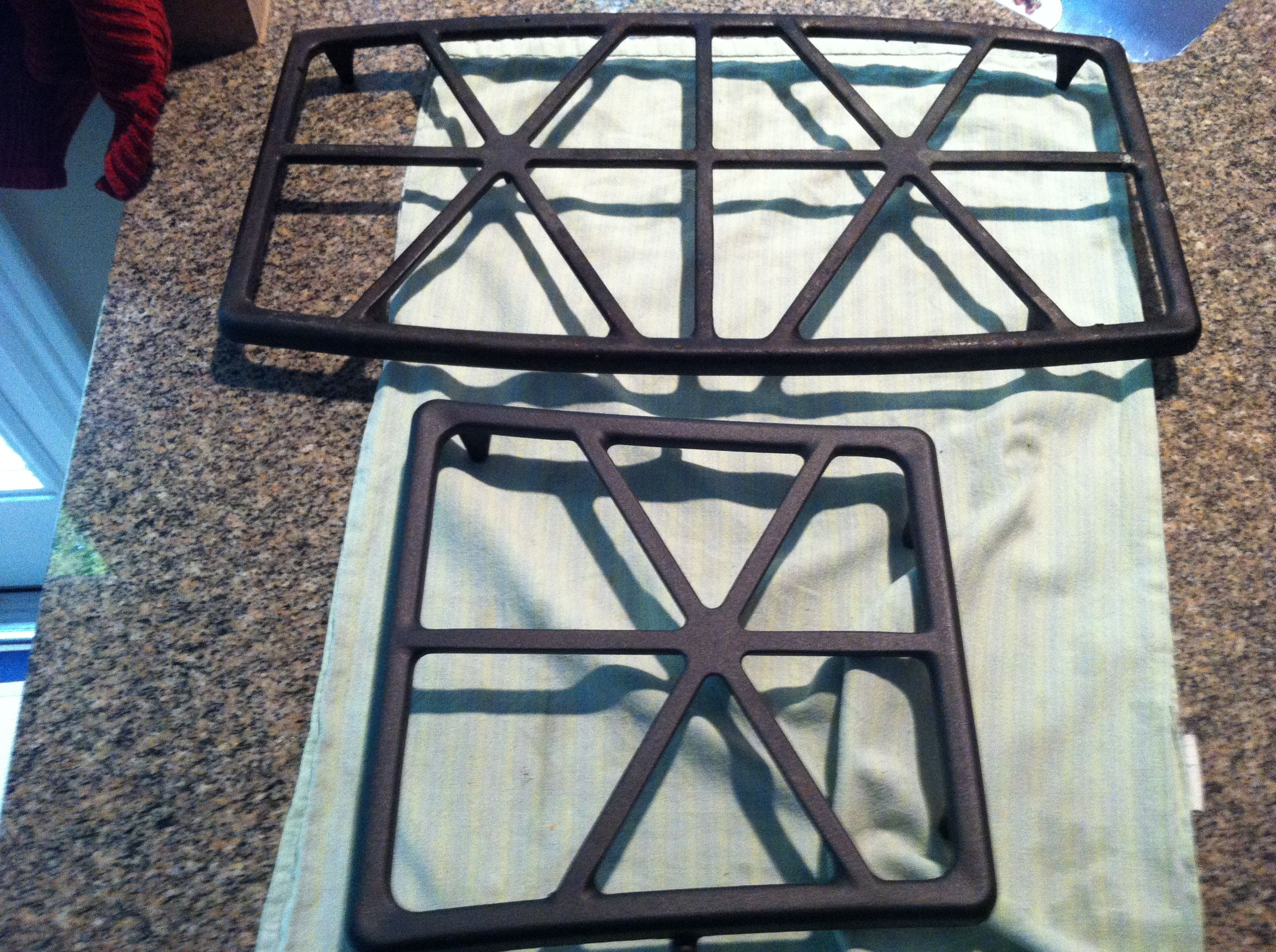 My Gas Stove top burner grate looks like new! In the picture the ...