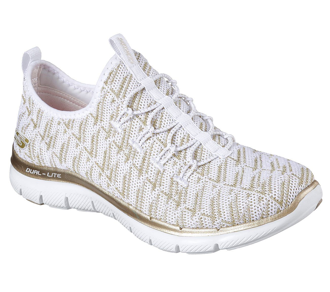 dd57bd405a8 Amazing socklike comfort and sporty style are yours with the SKECHERS Flex  Appeal 2.0 - Insights shoe. Nearly one piece athletic knit fabric upper in  a slip ...