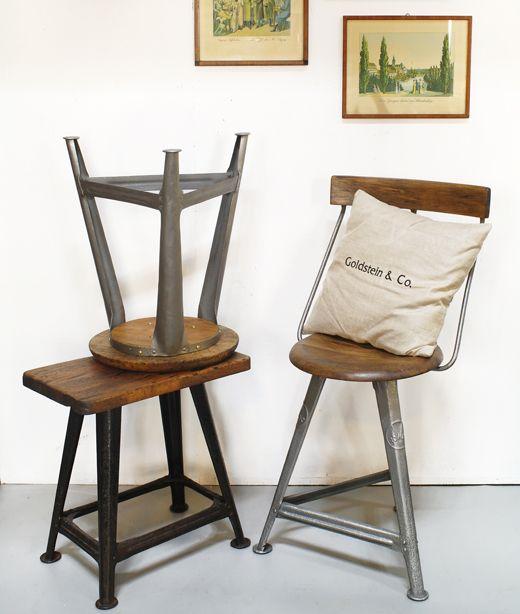 hocker und stuhl im industrialchic rowac robert wagner. Black Bedroom Furniture Sets. Home Design Ideas