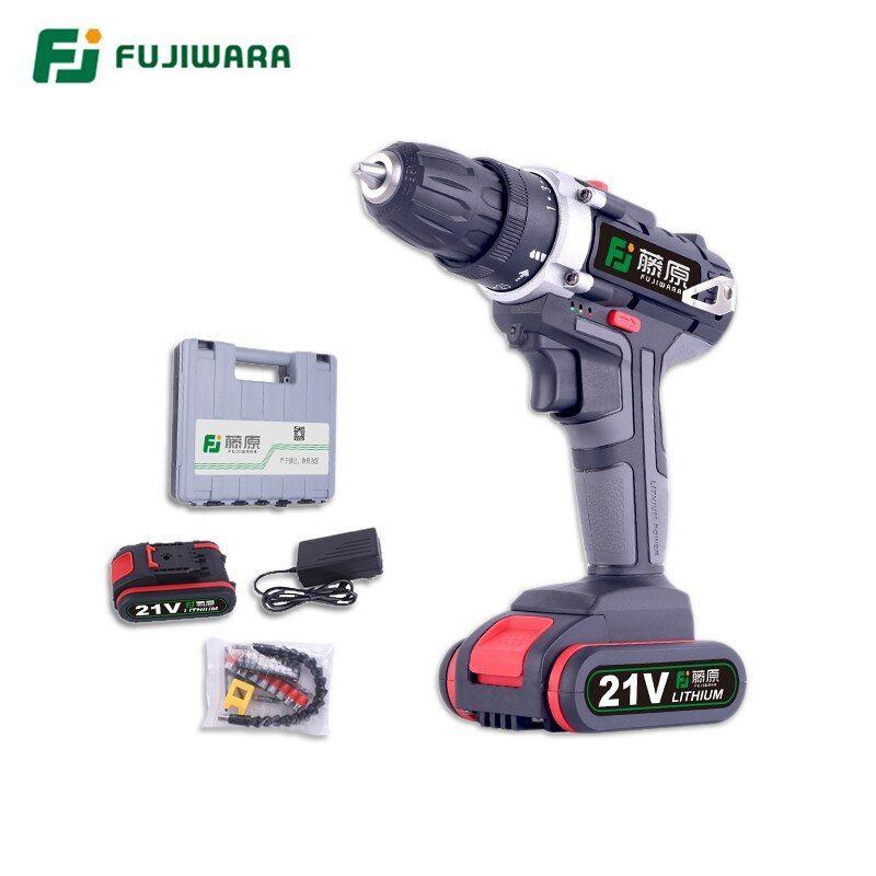 Fujiwara 21v 16 8v 12v Cordless Drill Power Impact Drill Lithium Battery Fujiwara 16 8v 12v Cordless Drill Cordless Drill Drill Electric Screwdriver