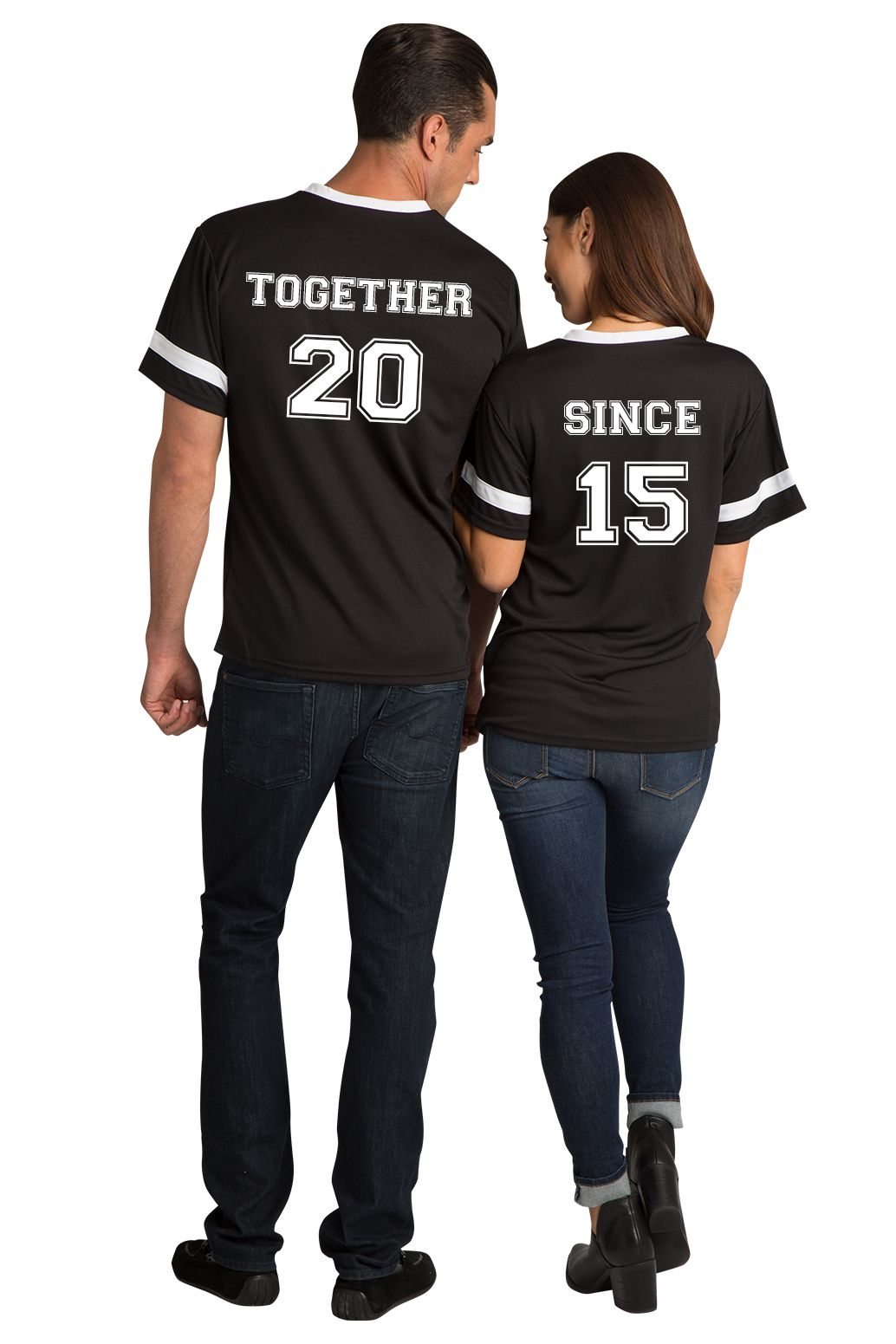 online store b3616 3be46 Together Since Matching Couple Football Jersey Shirts ...