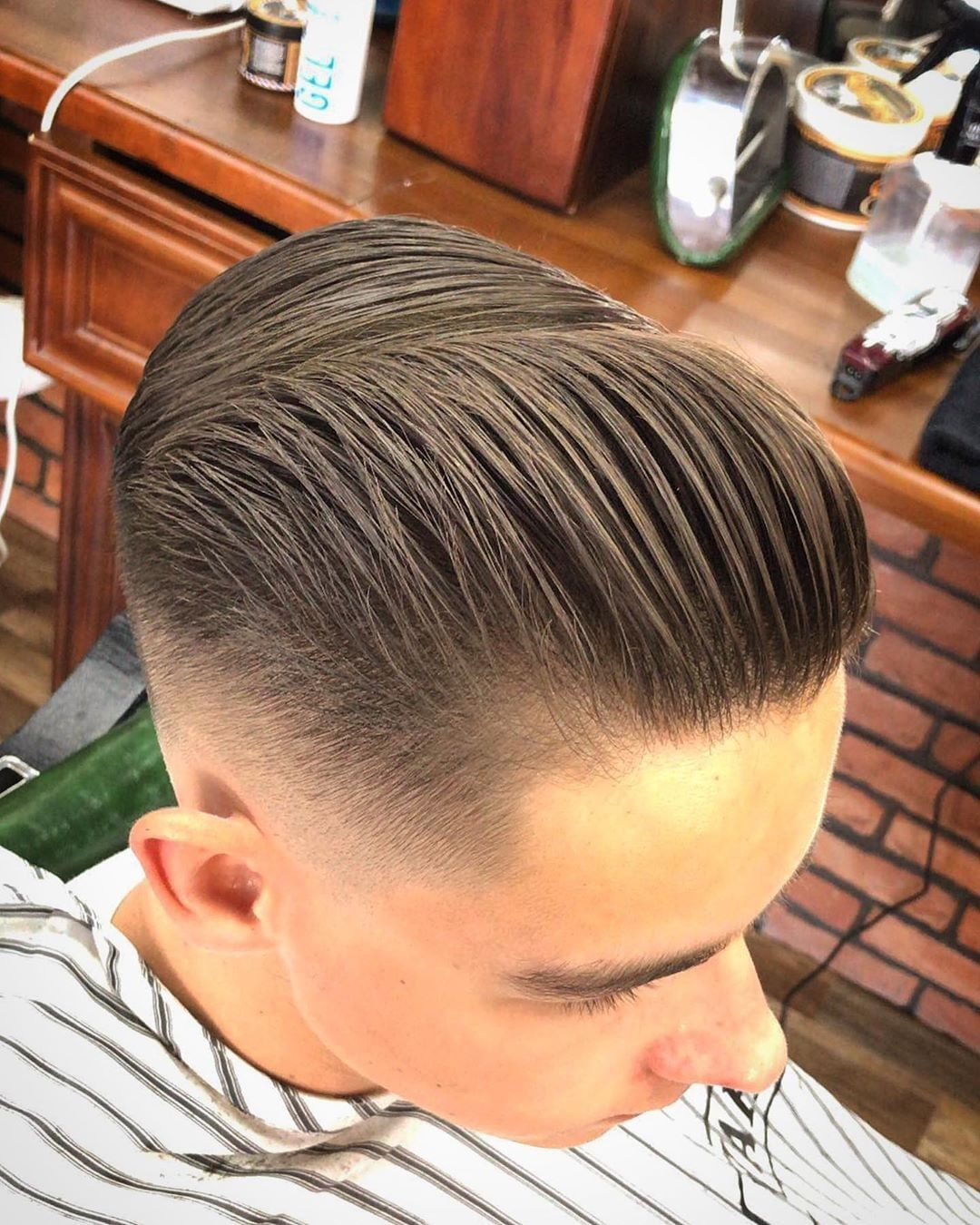 Verified Check Out This Clean Matte Finish By Antonio Barbero Using Firme Clay Suavecito Barber Brylcreem Hairstyles Hair Pomade Barber
