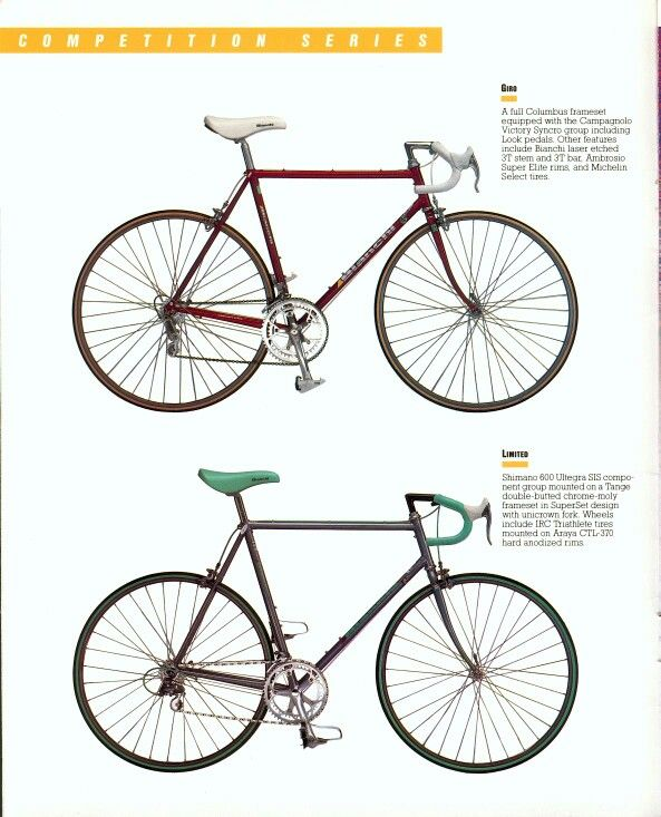 Bianchi Vintage 1986 Road Bike Catalog Bicycle Bianchi Bicycle Bike