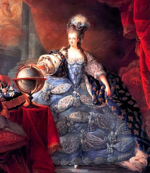 H.M. Queen Marie Antoinette of France, née Archduchess of Austria (1755-1793) - On 10 May 1774, when her husband ascended the throne as Louis XVI, upon the death of his grandfather Louis XV, she became Queen of France and Navarre, a title she held until September 1791, when, as the French Revolution proceeded, she became Queen of the French, a title she held until 21 September 1792.