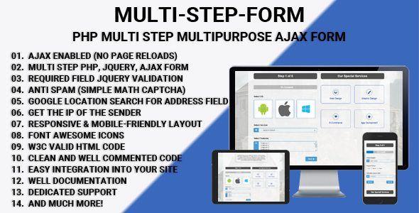 Download Multi Step Form v1.2 - PHP Multi Step Multipurpose Ajax ...