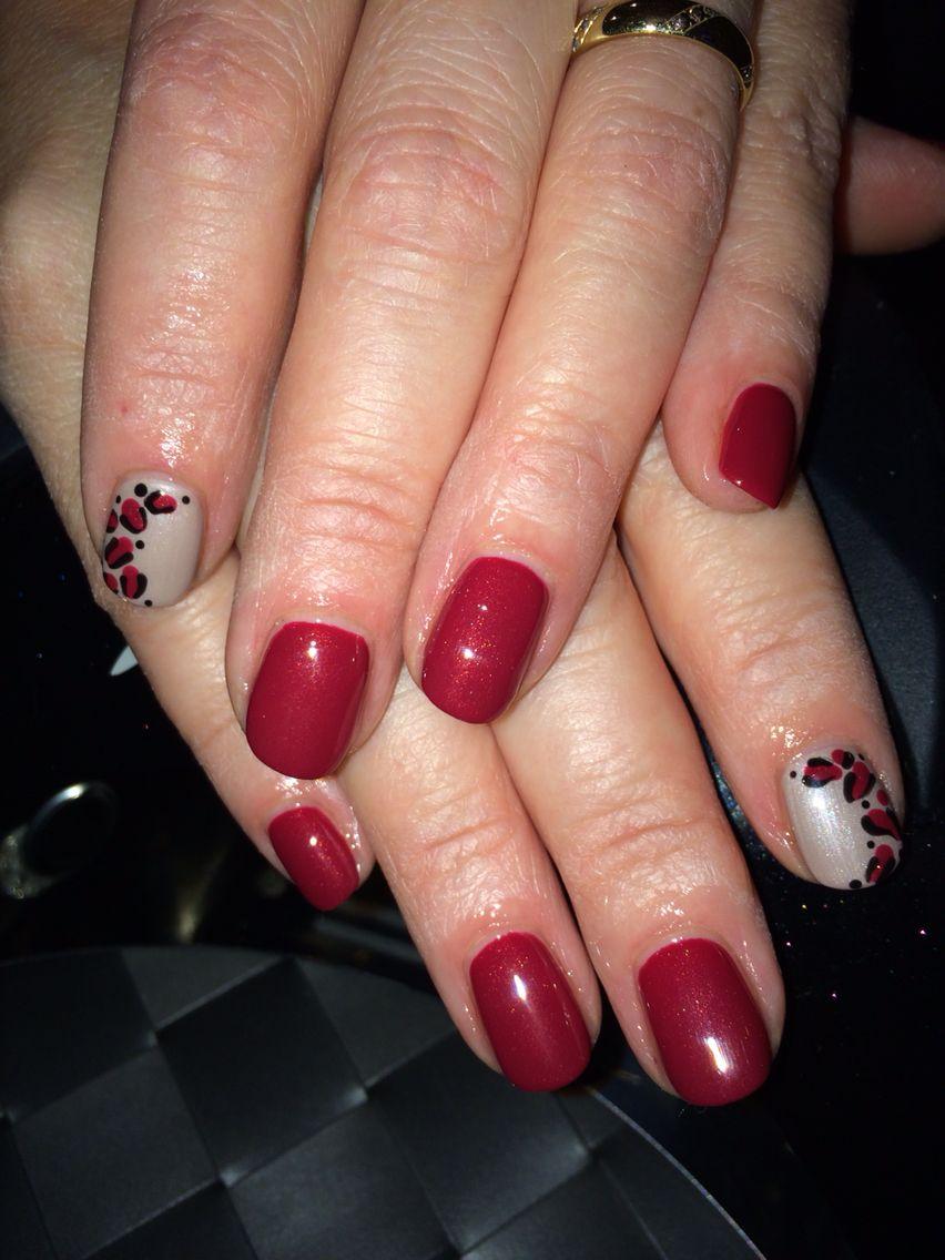 Artistic colour gloss daring & posh Uk nails, Red nails