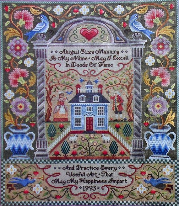 Merry Christmas Antique Sampler style ***counted cross stitch chart****