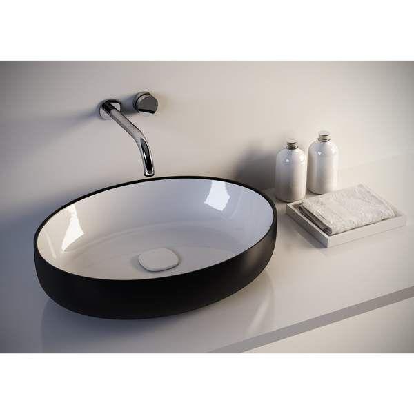 Fosi Oval Ceramic Vessel Sink Bowl Above Counter Sink Lavatory Washbasin Modern Sink Vanity Sink Small Sink