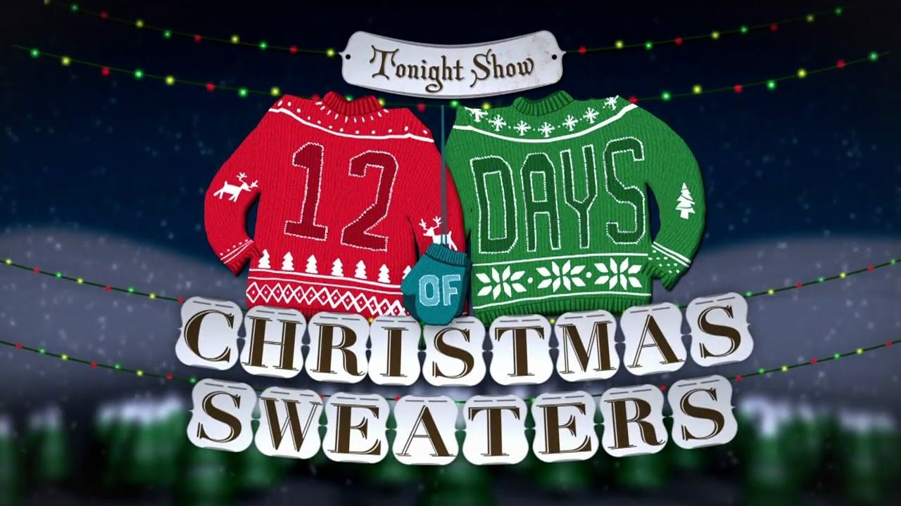 Watch Jimmy Fallon -Really Ugly Christmas Sweaters 2016 - 1 Day Left ...