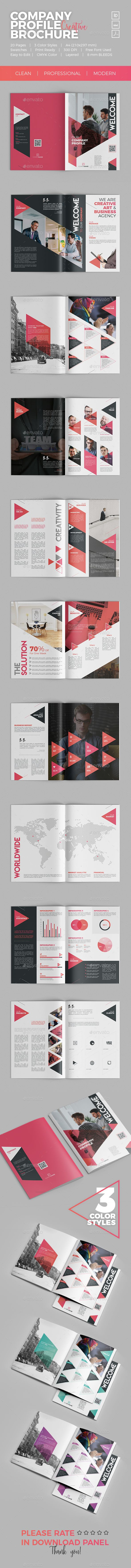 Professional Business Profile Template Company Profile Brochure  Company Profile Brochures And Brochure .