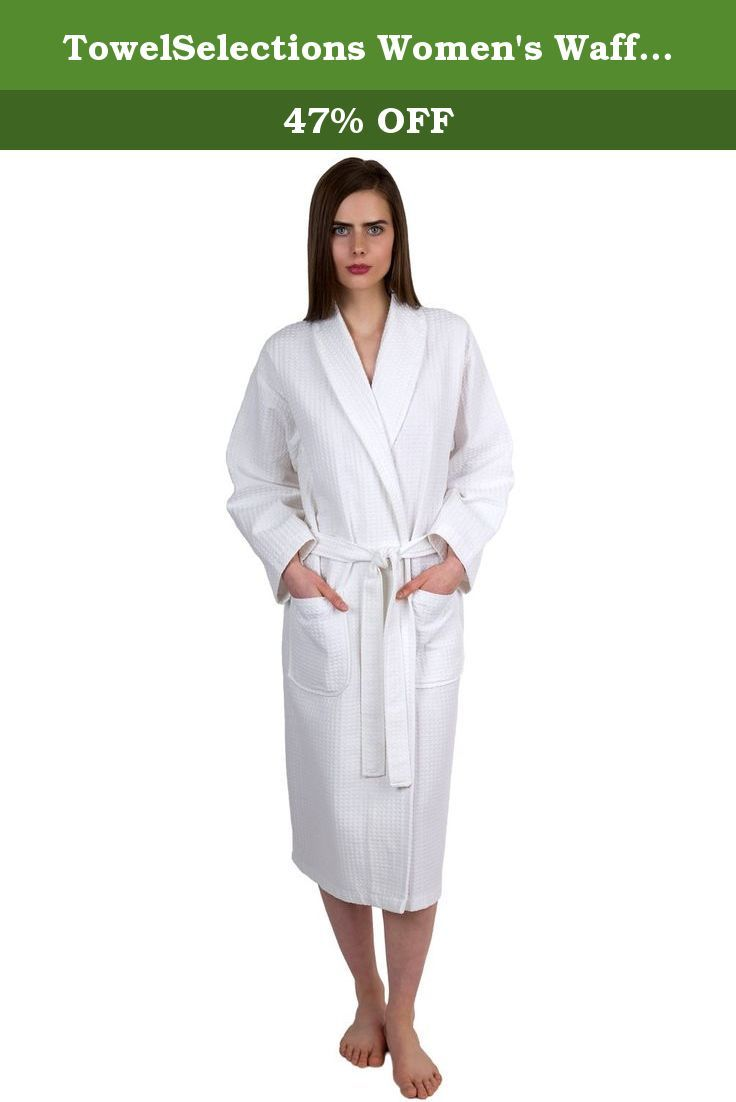 TowelSelections Women\'s Waffle Weave Robe Shawl Spa Bath… | Robes ...