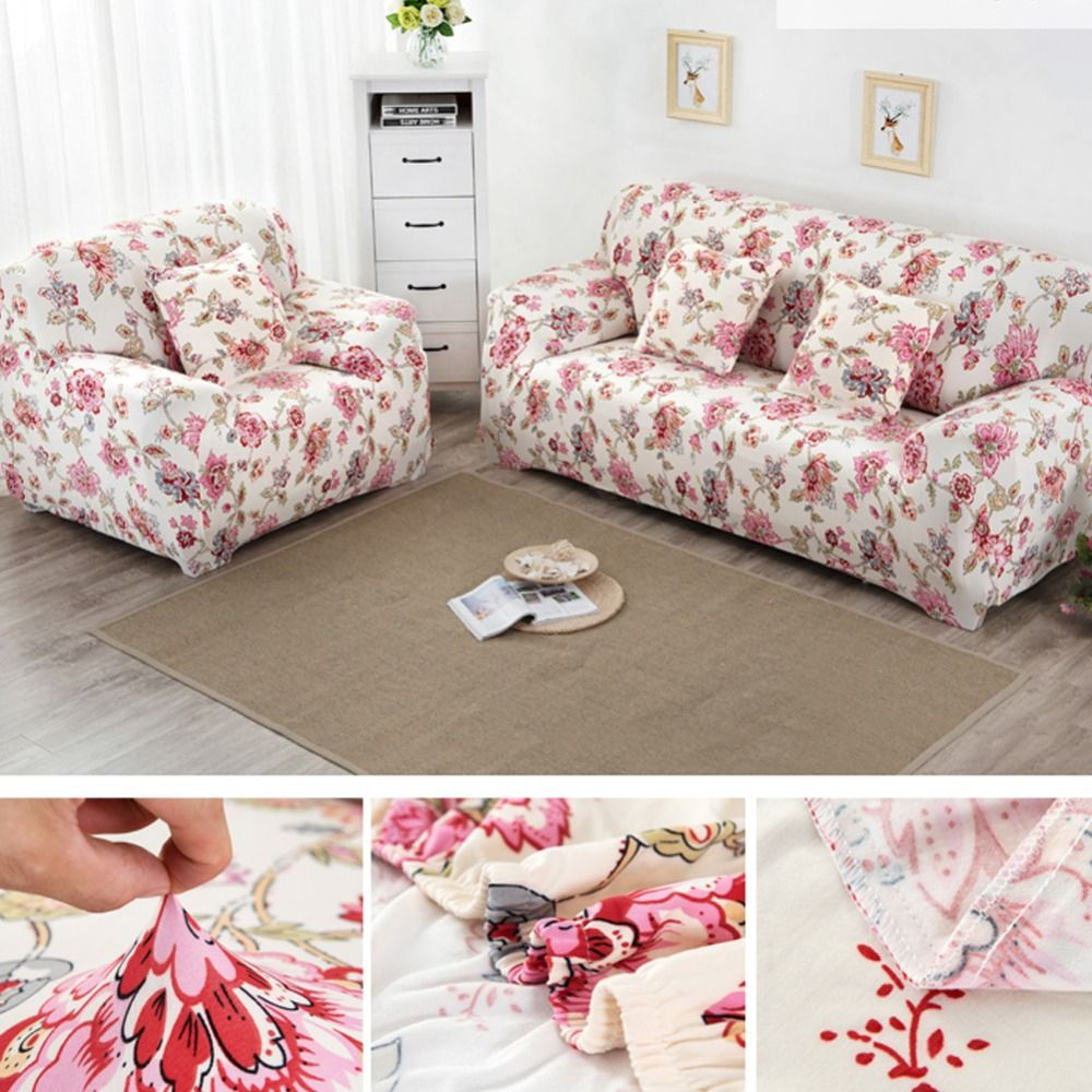 sofa covers low price teak wood sofas in chennai printed on the elastic cover universal flexible stretch couch funiture loveseat home