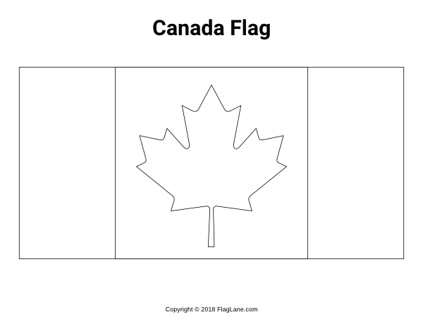 Free Printable Canada Flag Coloring Page Download It At Https