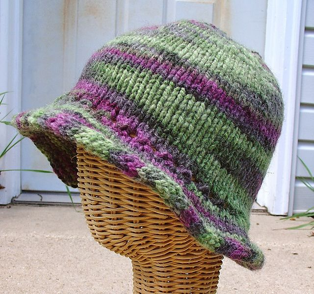 Floppy Brim Hat Worsted Weight Yarn Chemocaps Knitted Hats Knitting Knitting Patterns