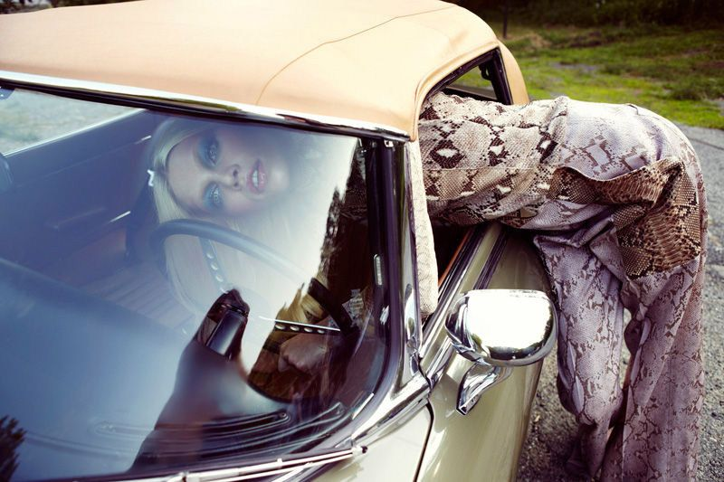 ALINE WEBER ON A ROAD TRIP WITH YELENA YEMCHUK  Styled by Karen Langley