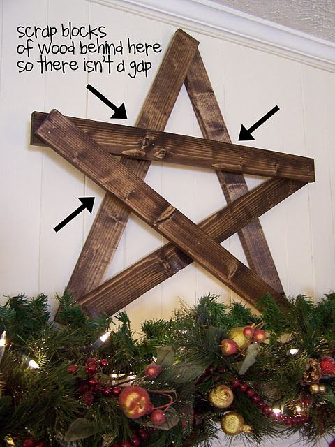 Make A Big Wooden Star Christmas Decorations Rustic Rustic Christmas Christmas Decorations