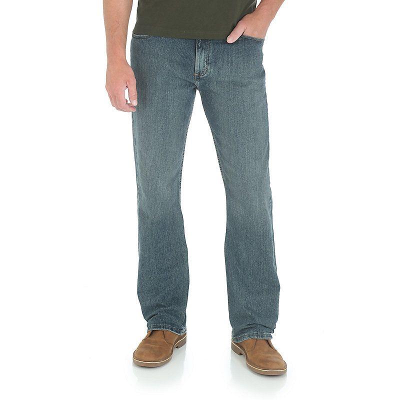 Wrangler Men's GW Advanced Comfort Straight Jeans (Size: 42x30) Blue