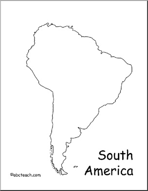 South America Map Outline South America Map Map Outline America Outline