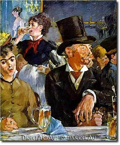 Manet   The Cafe Concert - Direct Art Australia,  Price: $199.00,  Availability: Delivery 10 - 14 days,  Shipping: Free Shipping,  Minimum Size: 50 x 60 cm,  Maximum Size : 100 x 150 cm,  Professional Artists - Museum Quality Paintings - No prints or computer generated techniques.  www.directartaustralia.com.au/