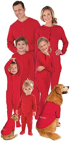 Red Dropseat Pajamas for the Whole Family | xmas ideas | Pinterest ...
