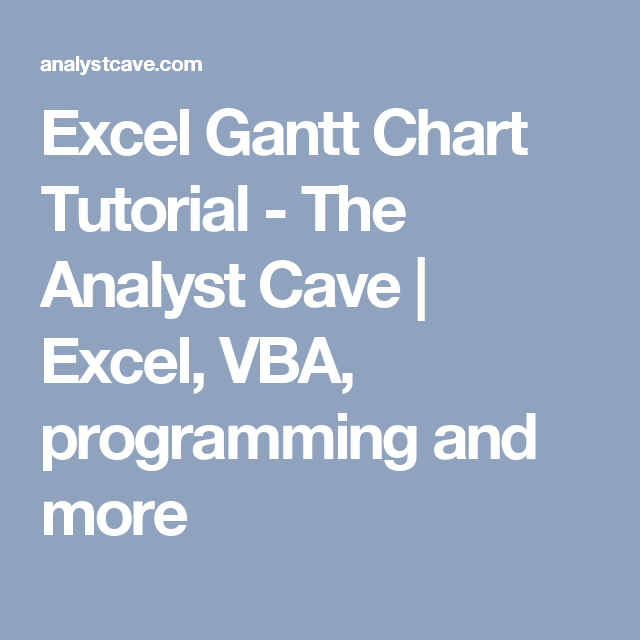 Excel gantt chart tutorial the analyst cave excel vba excel gantt chart tutorial the analyst cave excel vba programming and more ccuart Images