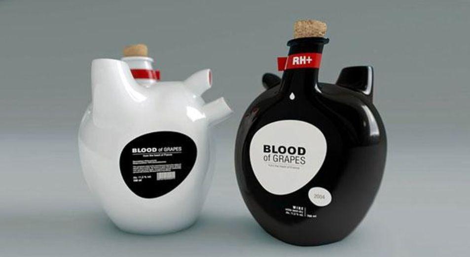 Botella de vino BLOOD OF GRAPES