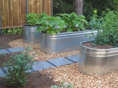 Galvanized Trough Planters | Galvanized Water Troughs For Garden Beds