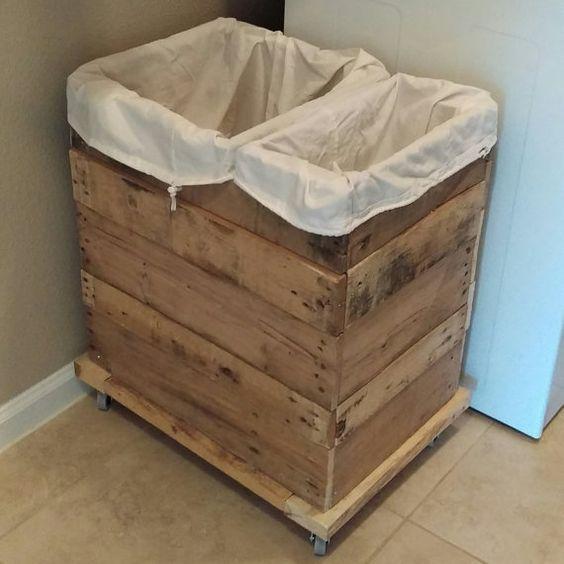 Laundry Basket Storage Handmade Hampers Organize Rustic Western