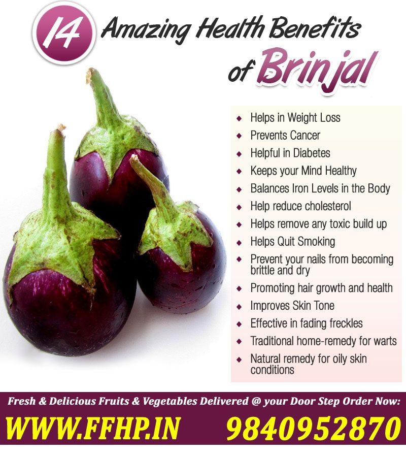 Health benefits of brinjal ffhp and
