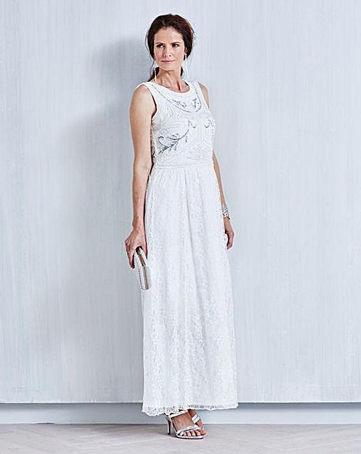 42c41c7eef JOANNA HOPE Lace Bead-Trim Maxi Dress | dresses | Beaded lace ...