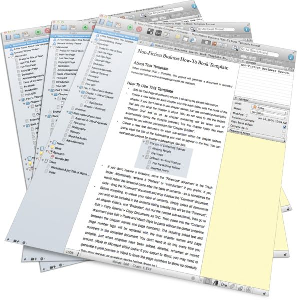 the ultimate in non fiction book templates for scrivener these