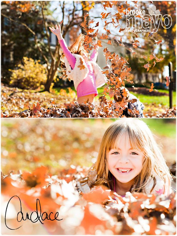 Richmond family portraits, fall leaves, fall family portraits, playing in leaves, autumn, autumn leaves, family portraits, family photography, Candace Owens for Brooke Mayo Photography, www.brookemayo.com