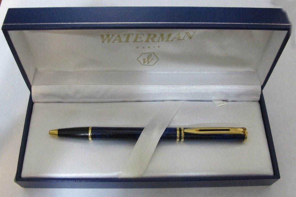 Ballpoint Pen New In Box - Waterman Laureat Mineral Red /& Gold  Rollerball