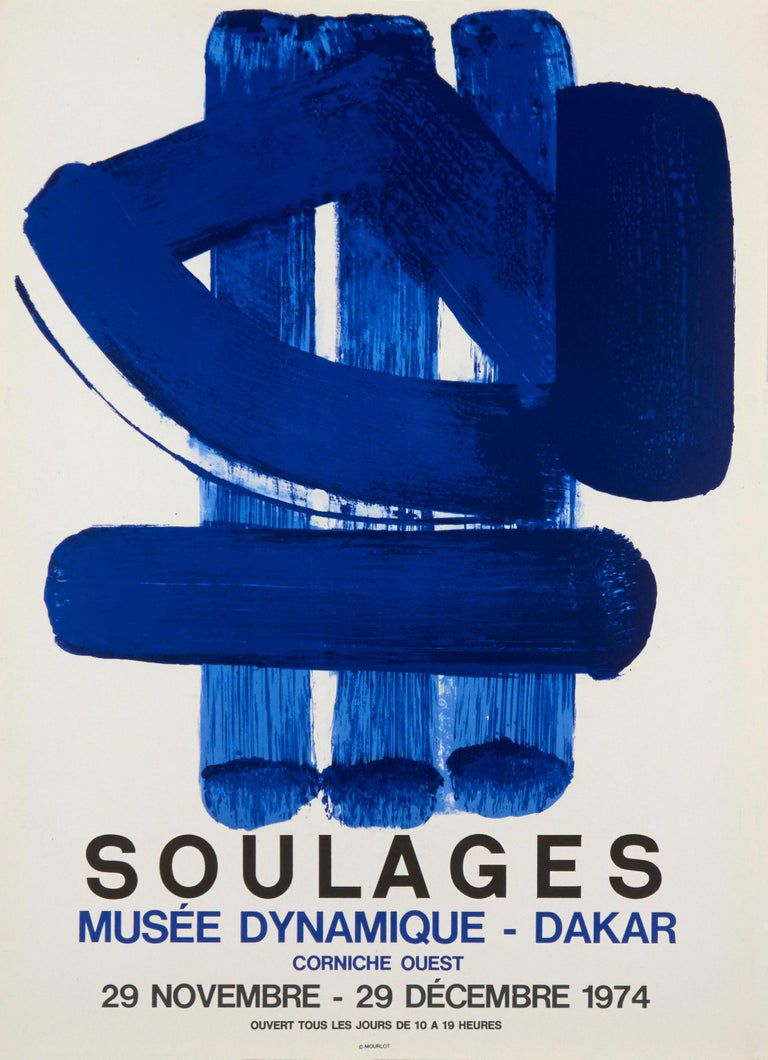 Couchtisch Dakar Pierre Soulages - Musee Dynamique - Dakar By Pierre Soulages | Artist At Work, Exhibition Poster, Fine Art Prints Photographs