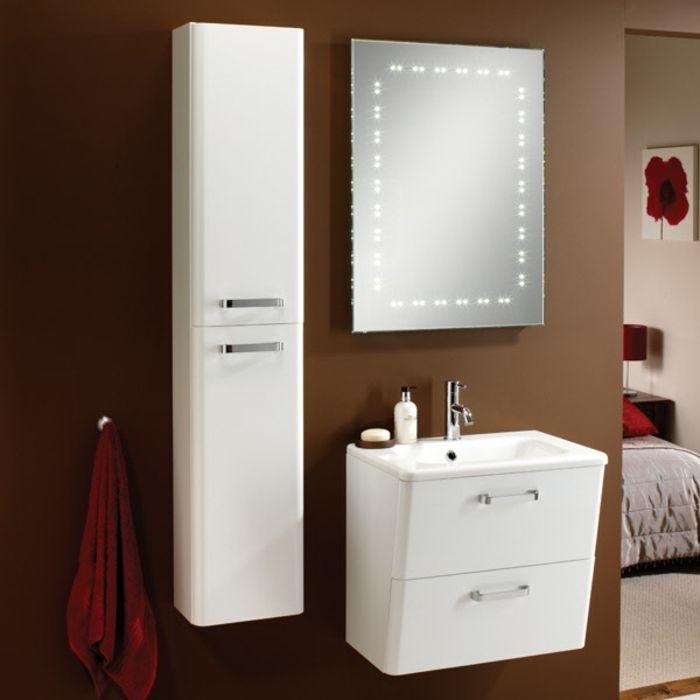 Hochschrank für Badezimmer weiß Salle de bain Pinterest - badezimmer wandschrank