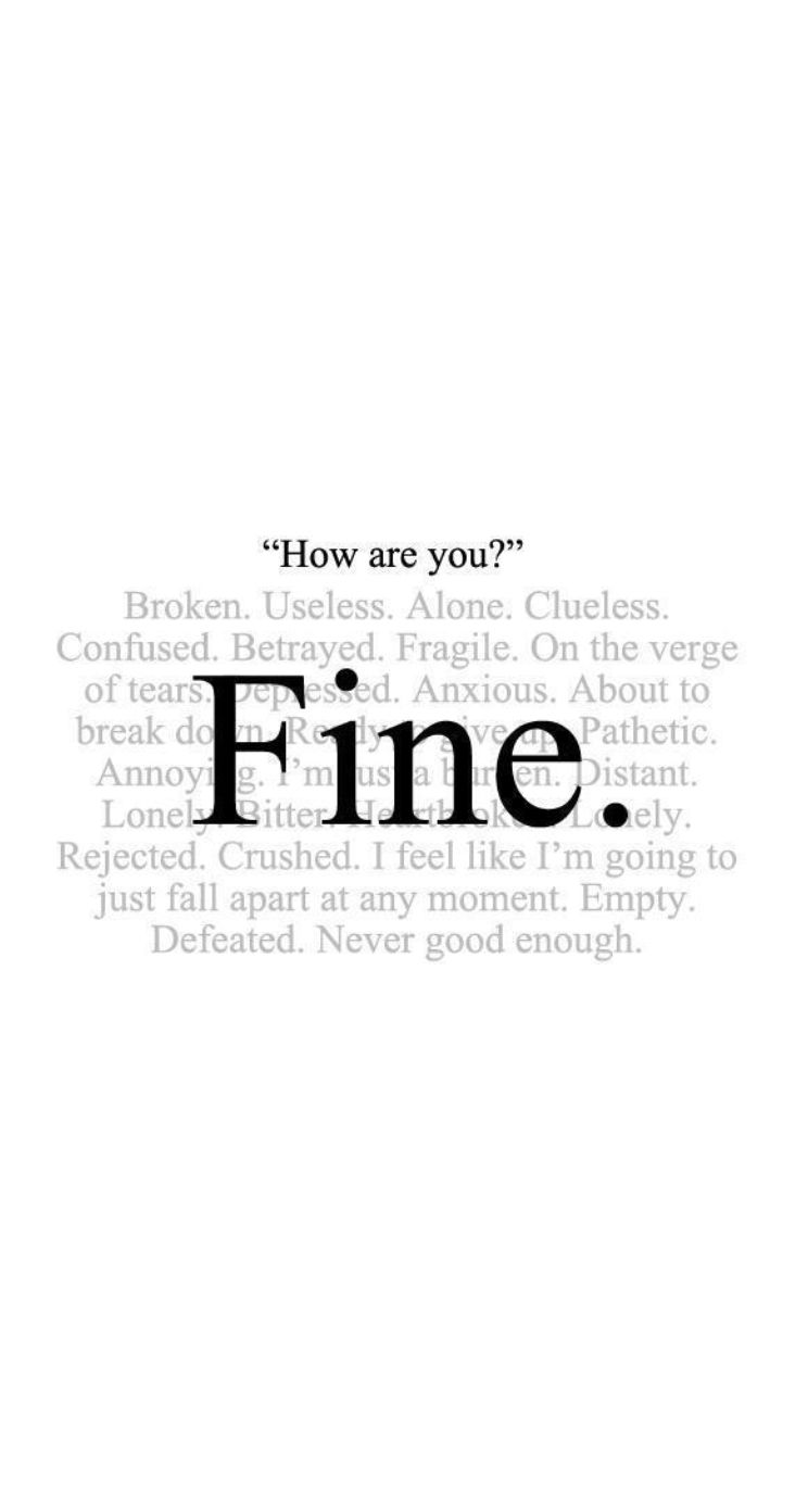 Dark quotes tumblr iphone wallpaper - Just Fine Iphone 5 Lifeline Quotes See More Http