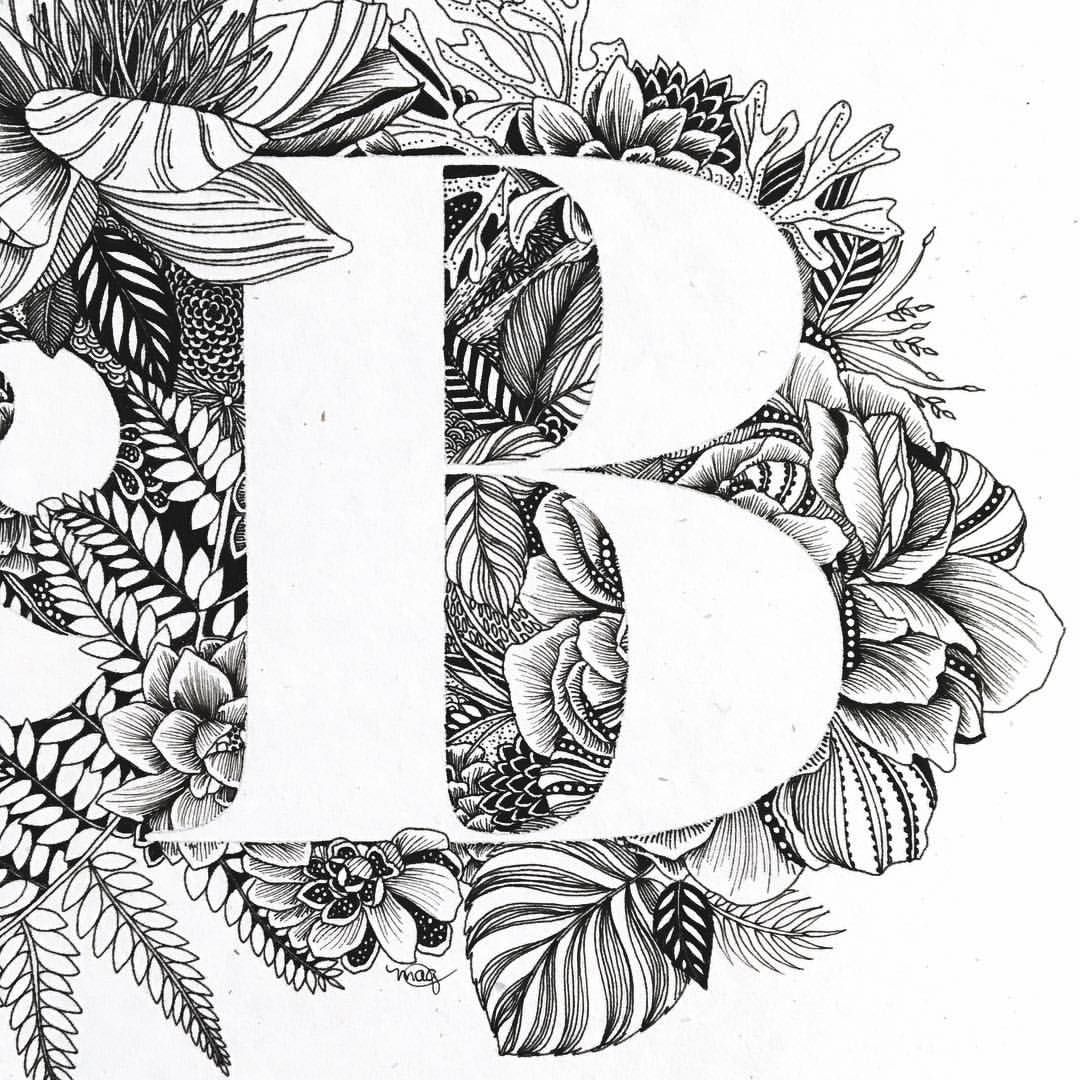 Detail view of B one of my favorite capital letters