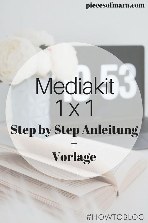 Was muss in ein Mediakit? + Vorlage #howtoblog | Blogging