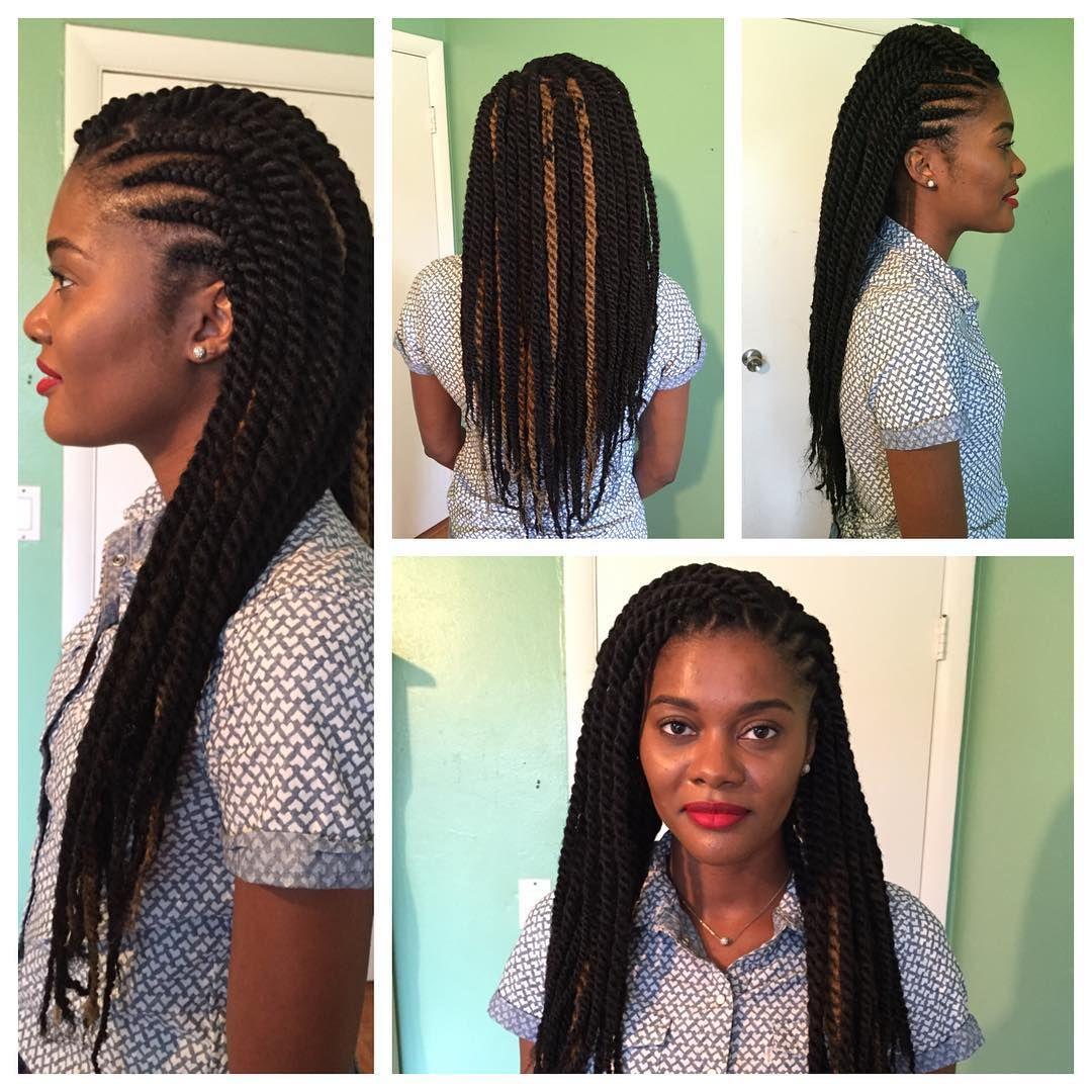 Havana Twists Ghana Braids Cuban Twist Hair Napp Shots Cuban