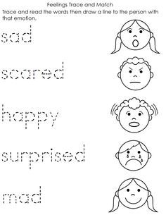 worksheet about feelings and emotions for kids - Buscar con Google