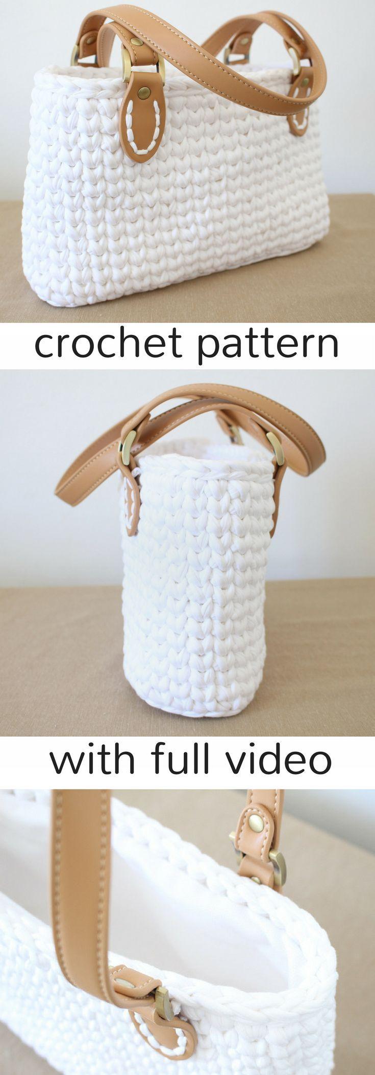 Handbag pattern by Jessica Venture - Crochet and Knitting Patterns #crochethandbags